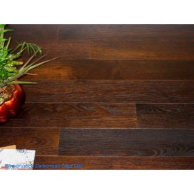 Plank Prefinished Engineered Floating Hardwood Wood Floor Flooring-White Oak Carbonized Oiled
