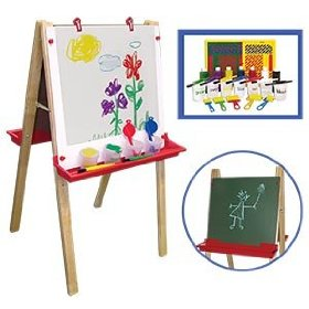 Childhood Resources-Children's Hardwood Adjustable Floor Easel
